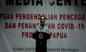 dr. Silwanus Sumule dalam video conference dengan wartawan, Senin (6/4/2020).