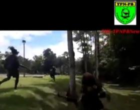 VIDEO | Secreen shot video amatir aksi penembakan di OB 1 Kuala Kencana yang beredar di masyarakat. (Foto: Ist/SP)