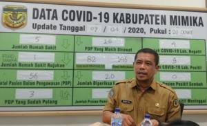Juru Bicara Covid-19 Kabupaten Mimika, Reynold Ubra. (Foto: Sevianto/SP)